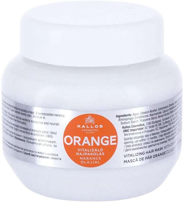Kallos Cosmetics Orange Hair Mask 275ml (Damaged Hair - Dry Hair)