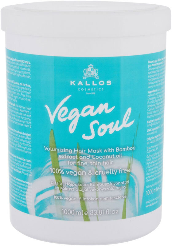 Kallos Cosmetics Vegan Soul Volumizing Hair Mask 1000ml (Fine Hair)