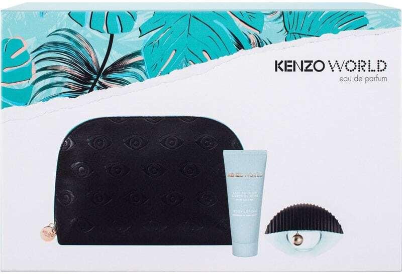Kenzo Kenzo World Eau de Parfum 50ml Combo: Edp 50 Ml + Body Lotion 75 Ml + Cosmetic Bag