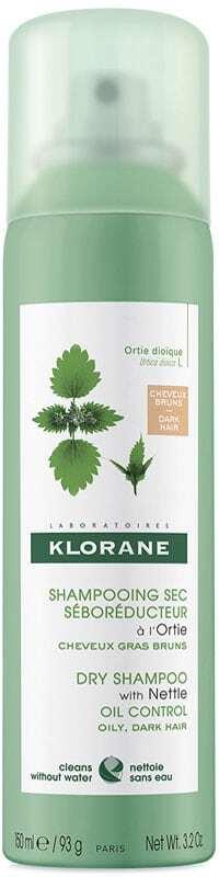 Klorane Nettle Dark Hair Dry Shampoo 150ml (Oily Hair - All Hair Types)