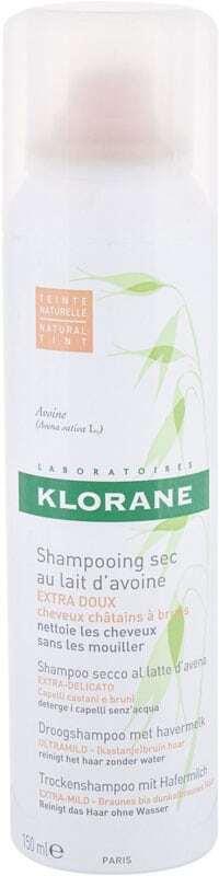 Klorane Oat Milk Ultra-Gentle Dark Hair Dry Shampoo 150ml (All Hair Types)
