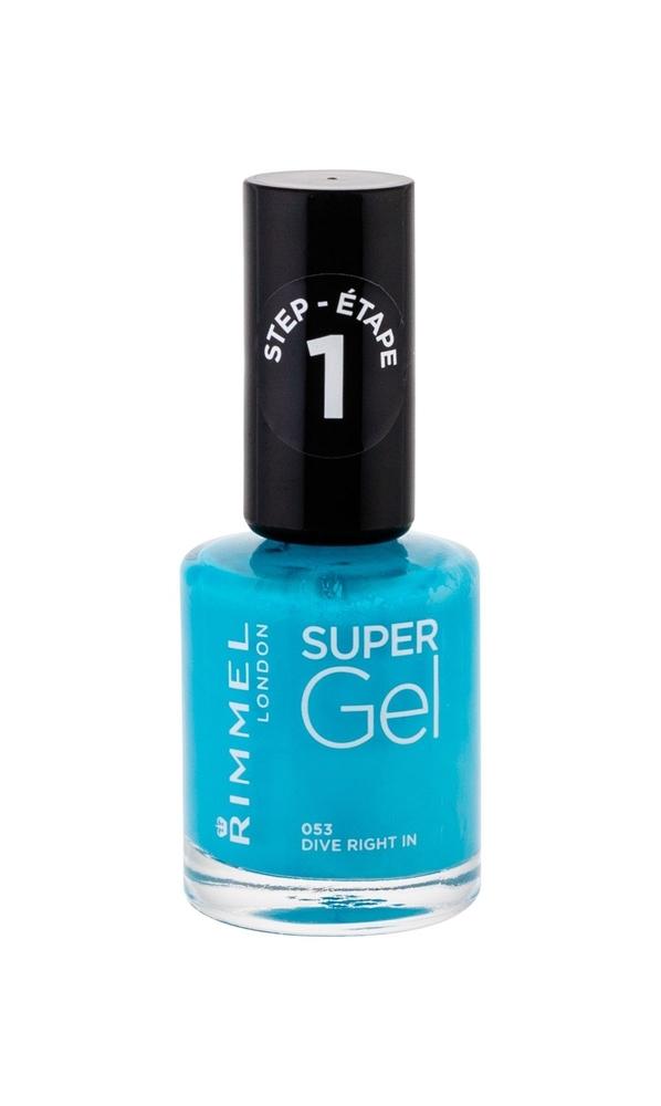 Rimmel London Super Gel Step1 Nail Polish 12ml 053 Dive Right In