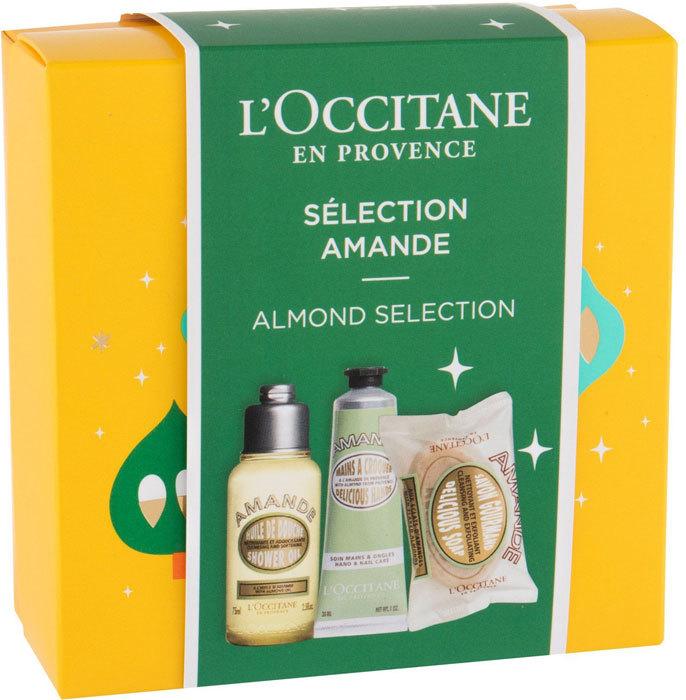 L´occitane Almond (Amande) Shower Oil 75ml Combo: Shower Oil 75 Ml + Hand Cream 30 Ml + Delicious Soap 50 G