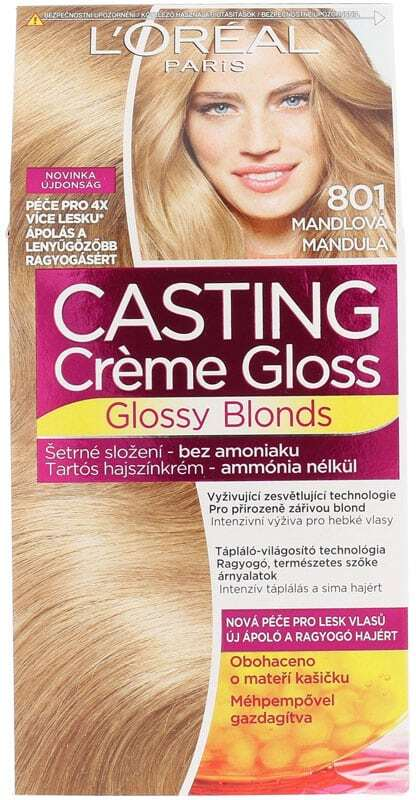 L´oréal Paris Casting Creme Gloss Glossy Blonds Hair Color 801 Silky Blonde 1pc