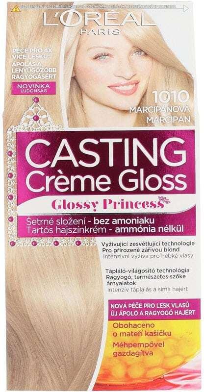 L´oréal Paris Casting Creme Gloss Glossy Princess Hair Color 1010 Light Iced Blonde 1pc