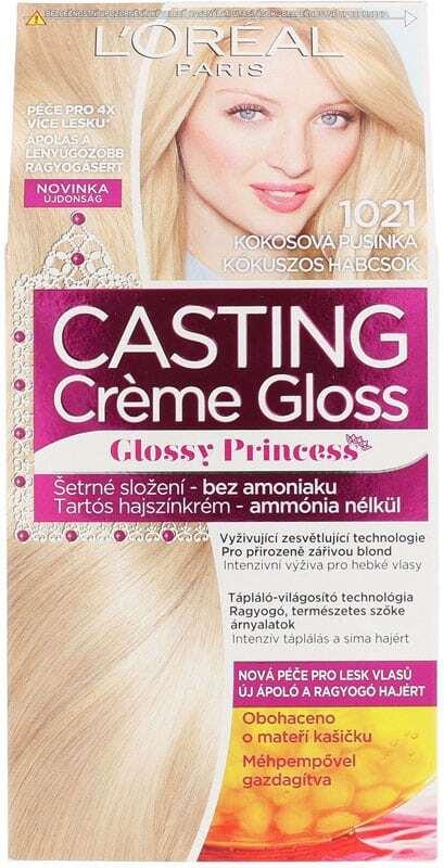 L´oréal Paris Casting Creme Gloss Glossy Princess Hair Color 1021 Coconut Baby 1pc