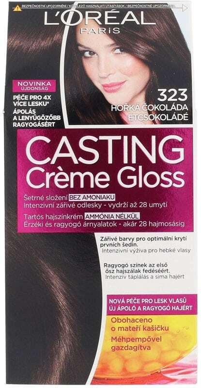 L´oréal Paris Casting Creme Gloss Hair Color 323 Darkest Chocolate 1pc