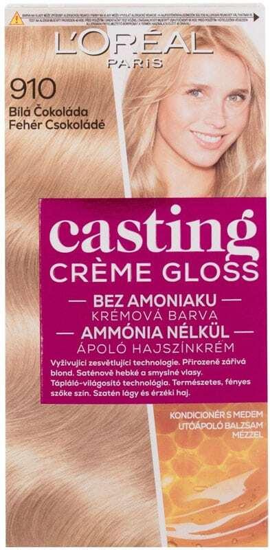 L´oréal Paris Casting Creme Gloss Hair Color 910 White Chocolate 48ml (Colored Hair - Blonde Hair - All Hair Types)