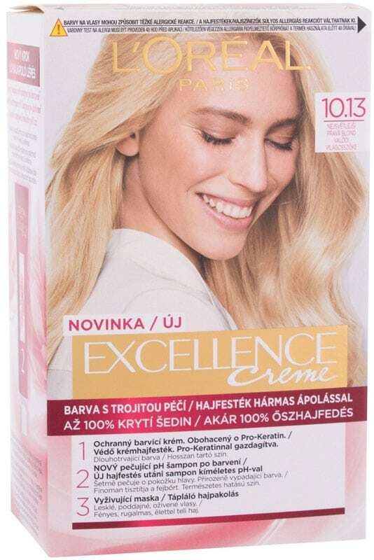 L´oréal Paris Excellence Creme Triple Protection Hair Color 10,13 Natural Light Baby Blonde 48ml (Blonde Hair - All Hair Types)