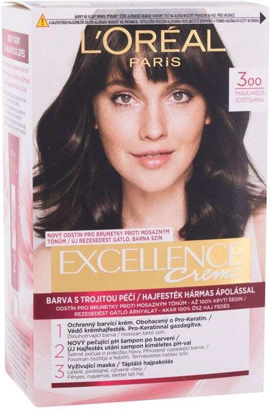 L´oréal Paris Excellence Creme Triple Protection Hair Color 300 Dark Brown 48ml (All Hair Types)