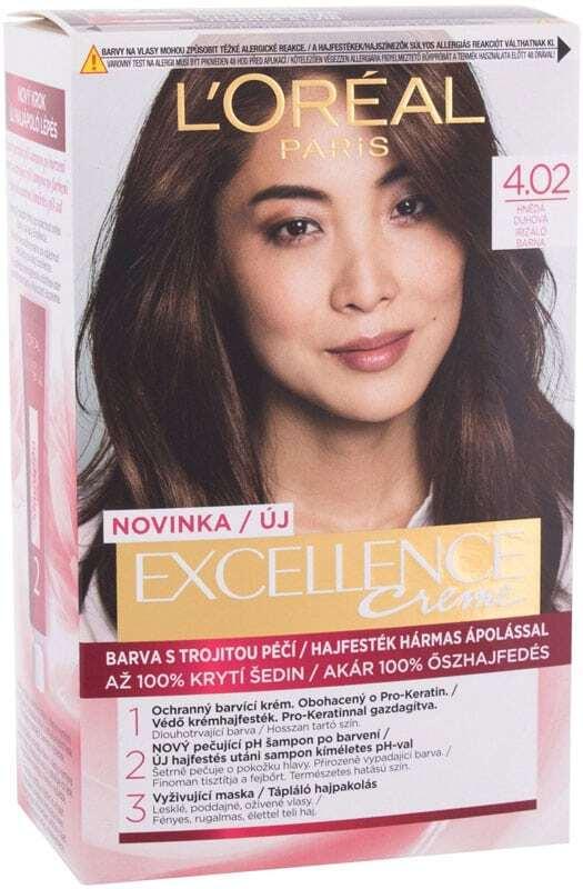 L´oréal Paris Excellence Creme Triple Protection Hair Color 4,02 Tempting Brunette Brown 48ml (All Hair Types)