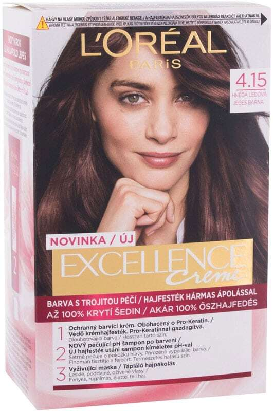 L´oréal Paris Excellence Creme Triple Protection Hair Color 4,15 Frosted Brown 48ml (All Hair Types)