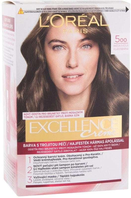 L´oréal Paris Excellence Creme Triple Protection Hair Color 500 Natural Brown 48ml