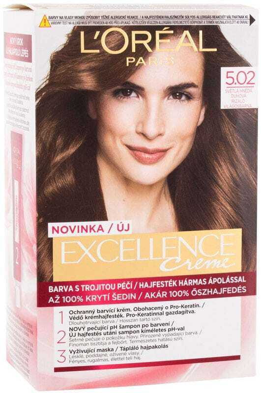 L´oréal Paris Excellence Creme Triple Protection Hair Color 5,02 Light Brown 48ml (All Hair Types)