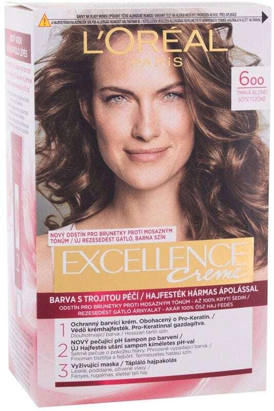 L´oréal Paris Excellence Creme Triple Protection Hair Color 600 Natural Dark Blonde 48ml (All Hair Types)