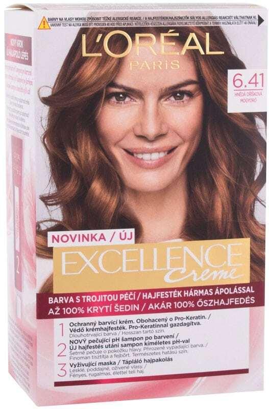L´oréal Paris Excellence Creme Triple Protection Hair Color 6,41 Natural Hazelnut Brown 48ml (All Hair Types)