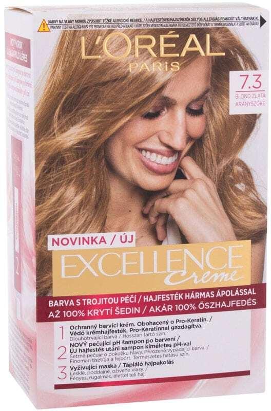 L´oréal Paris Excellence Creme Triple Protection Hair Color 7,3 Natural Golden Blonde 48ml (Blonde Hair - All Hair Types)