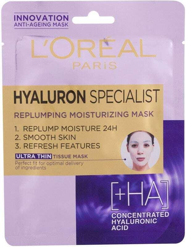 L´oréal Paris Hyaluron Specialist Replumping Moisturizing Face Mask 1pc (Wrinkles)