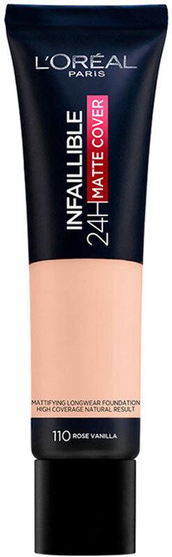 L´oréal Paris Infallible 24H Matte Cover Makeup 110 Rose Vanilla 30ml