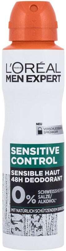 L´oréal Paris Men Expert Sensitive Control 48H Deodorant 150ml (Deo Spray - Alcohol Free - Aluminium Free)