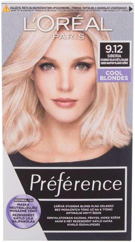 L´oréal Paris Préférence Cool Blondes Hair Color 9,12 Siberia 60ml (Colored Hair - Blonde Hair - All Hair Types)