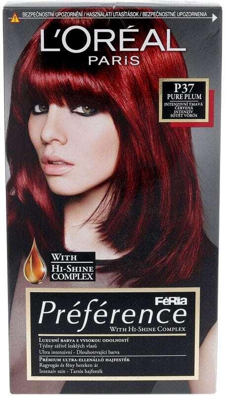 L´oréal Paris Préférence Féria Hair Color P37 Pure Plum 1pc (All Hair Types)