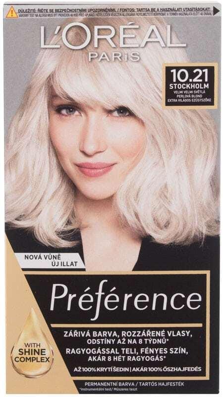 L´oréal Paris Préférence Hair Color 10,21 Stockholm 60ml (Colored Hair - Blonde Hair - All Hair Types)