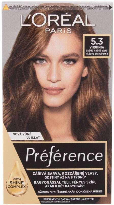 L´oréal Paris Préférence Hair Color 5,3 Virginia 60ml (Colored Hair - All Hair Types)