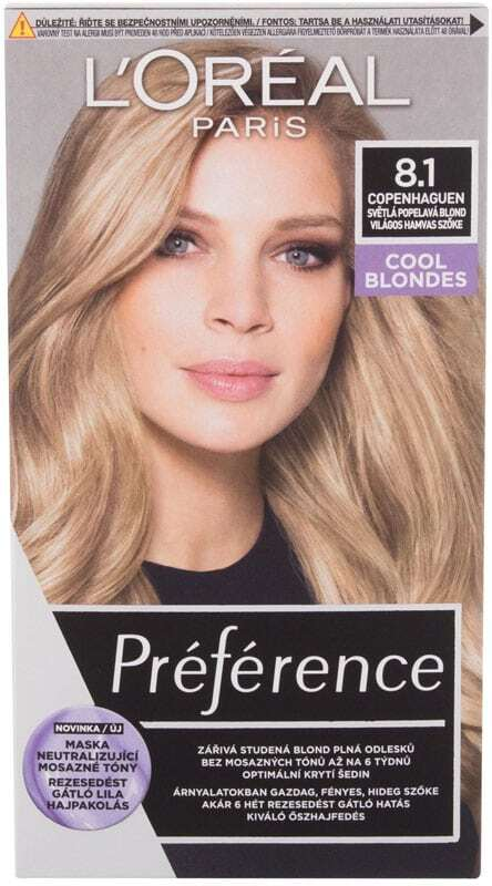 L´oréal Paris Préférence Hair Color 8,1 Copenhaguen 60ml (Colored Hair - Blonde Hair - All Hair Types)