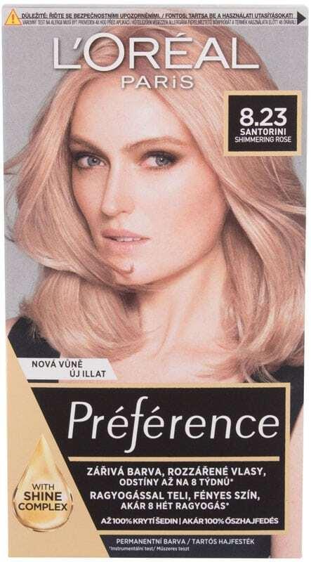 L´oréal Paris Préférence Hair Color 8,23 Santorini 60ml (Colored Hair - Blonde Hair - All Hair Types)