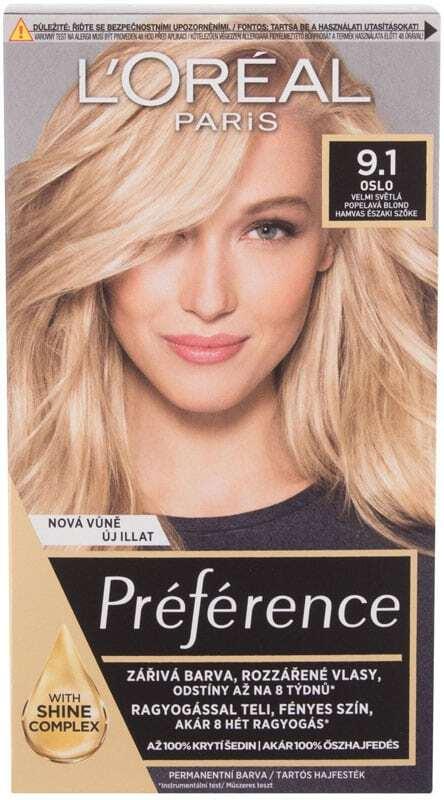 L´oréal Paris Préférence Hair Color 9,1 Oslo 60ml (Colored Hair - Blonde Hair - All Hair Types)