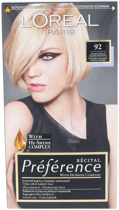 L´oréal Paris Préférence Récital Hair Color 92 1pc
