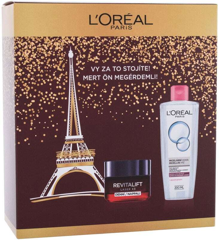 L´oréal Paris Revitalift Laser X3 Day Cream 50ml Combo: Daily Facial Cream Revitalift Laser X3 50 Ml + Micellar Water 200 Ml (Mature Skin)
