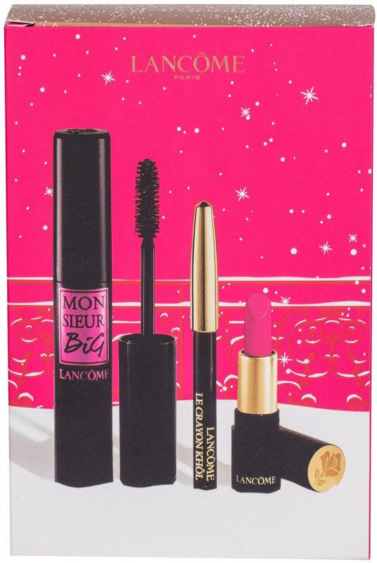 Lancôme Monsieur Big Mascara 01 Big Is The New Black 10ml Combo: Mascara 10 Ml + Eye Pencil Le Crayon Khol 0,7 G 01 Noir + Lipstick L' Absolu Rouge Matte 1,6 G 378 Rose