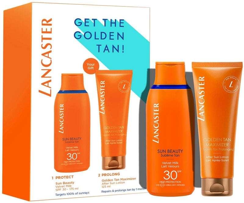 Lancaster Sun Beauty Sun Body Lotion 175ml Combo: Sun Beauty Sublime Tan Velvet Milk SPF30 175 Ml + Golden Tan Maximizer After Sun Lotion 125 Ml