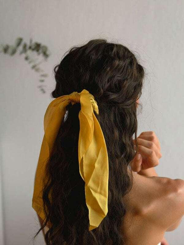 Λαστιχάκι Μαλλιών Με Κορδέλα Κίτρινο Finish It Off