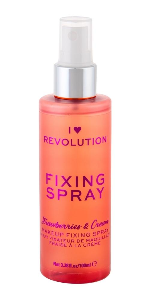 Makeup Revolution London I Heart Revolution Fixing Spray Make - Up Fixator 100ml Strawberry Cream