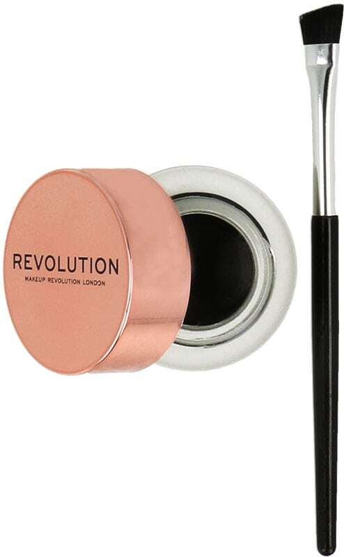 Makeup Revolution London Gel Eyeliner Pot With Brush Eye Line Black 3gr
