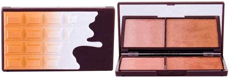 Makeup Revolution London I Heart Makeup Chocolate Duo Palette Bronzer Bronze And Shimmer 11gr