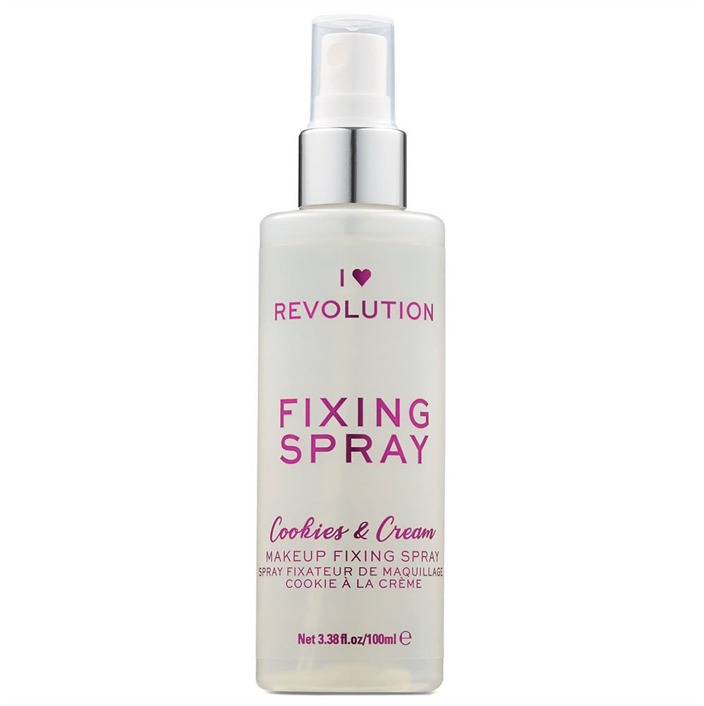 Makeup Revolution London I Heart Revolution Fixing Spray Cookies & Cream Make - Up Fixator 100ml