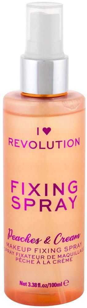 Makeup Revolution London I Heart Revolution Fixing Spray Peaches & Cream Make - Up Fixator 100ml