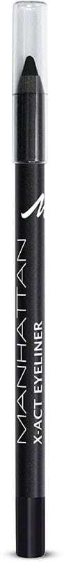 Manhattan X-Act Eyeliner Eye Pencil 1010N Paint It Black 1,2gr (Waterproof)