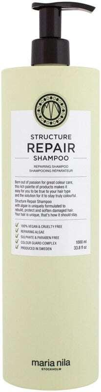Maria Nila Structure Repair Shampoo 1000ml (Weak Hair - Damaged Hair - Dry Hair)