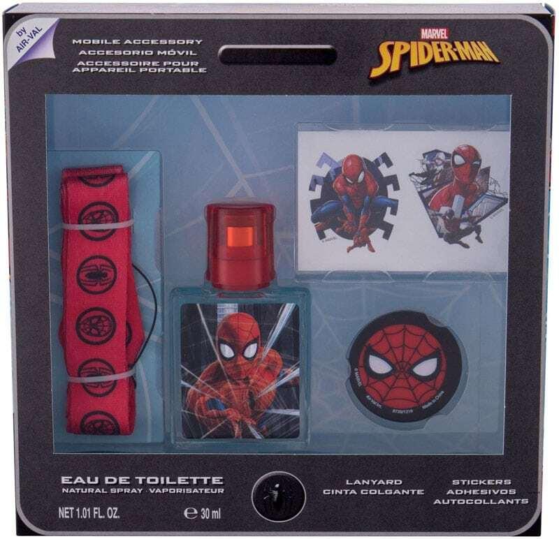 Marvel Spiderman Eau de Toilette 30ml Combo: Edt 30 Ml + Stickers + Key Ring + Mobile Phone Holder