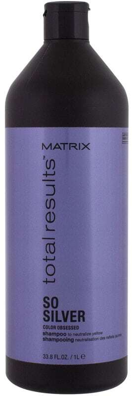 Matrix Total Results So Silver Color Obsessed Shampoo 1000ml (Colored Hair - Blonde Hair)