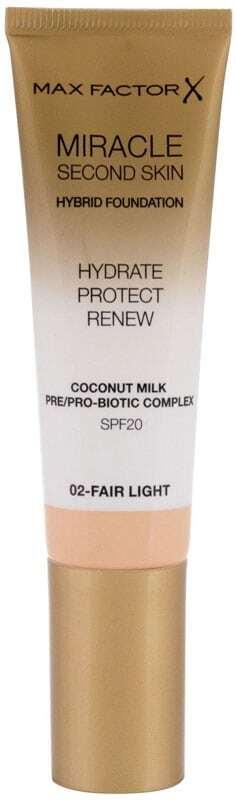 Max Factor Miracle Second Skin SPF20 Makeup 02 Fair Light 30ml