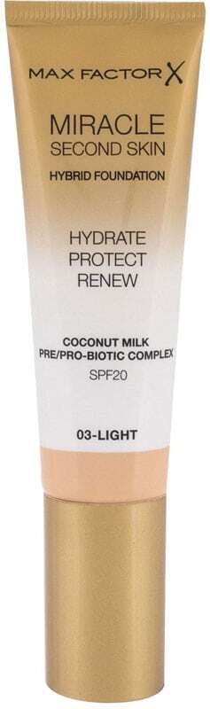 Max Factor Miracle Second Skin SPF20 Makeup 03 Light 30ml