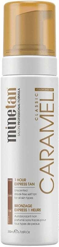 Minetan Caramel Self Tan Foam Classic Self Tanning Product 200ml