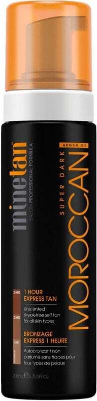 Minetan Moroccan Self Tan Foam Super Dark Self Tanning Product 200ml