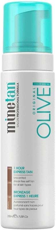 Minetan Olive Self Tan Foam Super Dark Self Tanning Product 200ml